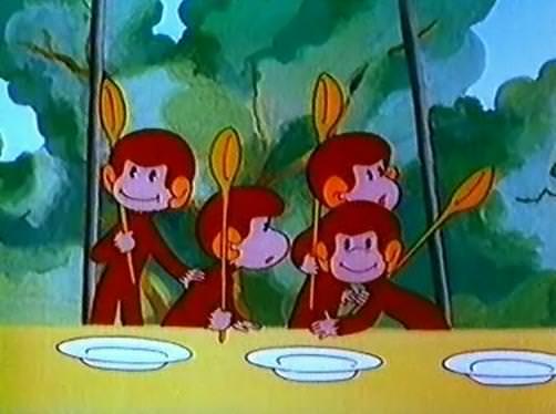 Обезьянки: Как обезьянки обедали